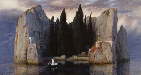 Arnold Böcklin: Die Toteninsel (1833) Tercera versión