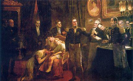 Aurélio de Figueiredo, Abdicación de Pedro I de Brasil, 1831