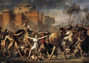 Jacques Louis David, l'intervention des sabines, 1799